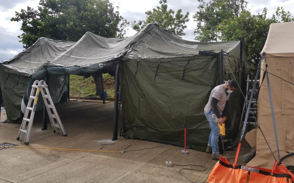 CNE instala toldos en Heredia para agilizar proceso devacunación