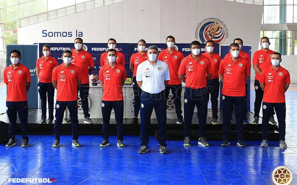 Este es el cuerpo técnico completo de la Selección Nacional. (Foto: Fedefutbol)