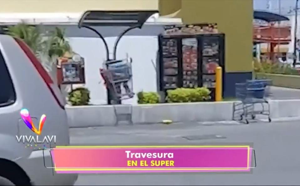 (+VIDEO) ¡Salto largo en carritos de súper!