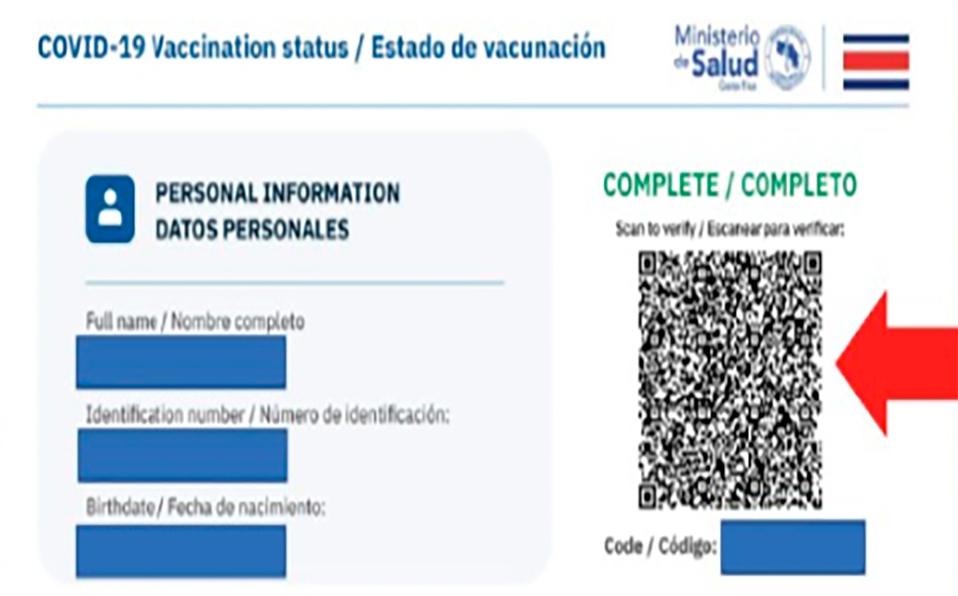 Así funcional el código QR de certificado de vacunación