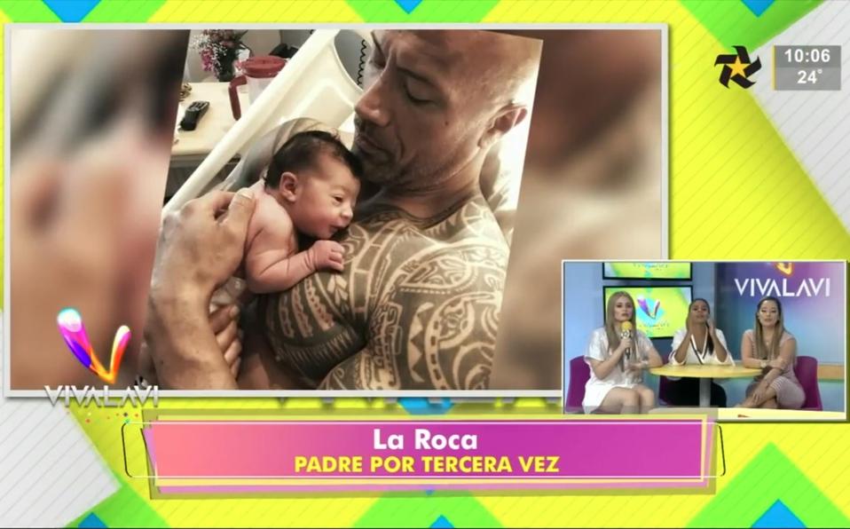 (+VIDEO) La Roca es padre por tercera vez