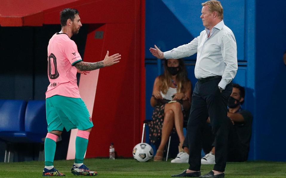 Es un ejemplo tenerlo de capitán: Koeman sobre Messi