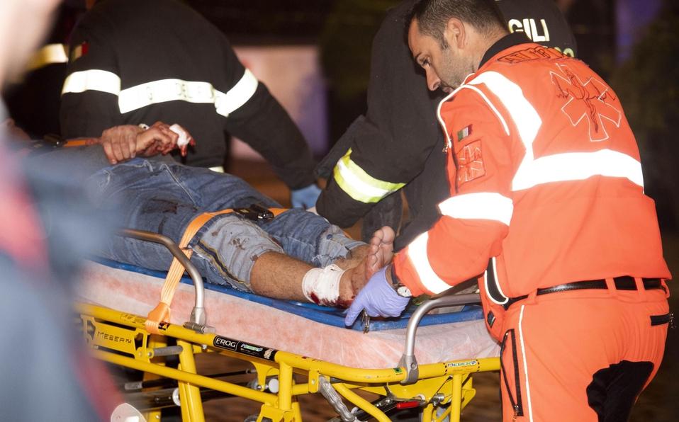 (+VIDEO)20 aficionados del CSKA heridos previo al duelo ante la Roma
