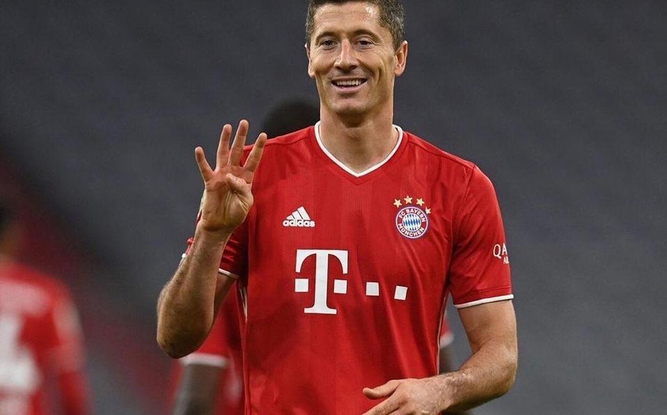 Póker de Lewandowski le da el triunfo al Bayern