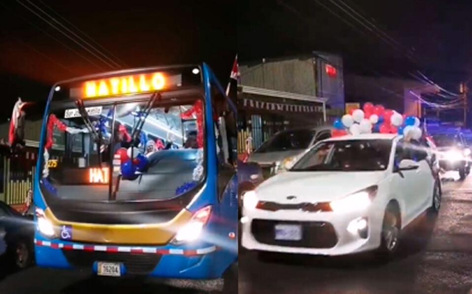 Vecinos de Hatillo realizaron caravana para festejar el 14 de septiembre. (Cortesía)