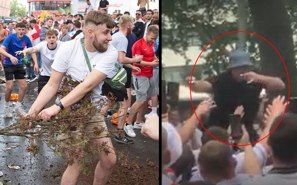Inglaterra se hundió en el caos mientras se desarrollaba la Eurocopa.