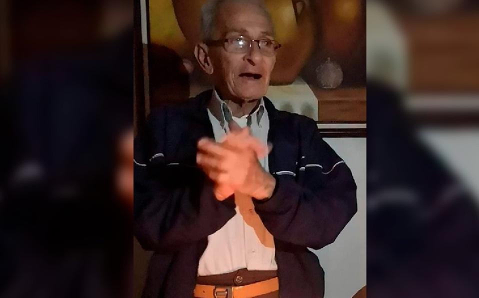 Piden ayuda para encontrar a Álvaro Torres Agüero de 81 años de edad.