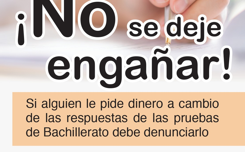 Autoridades investigarán filtración de respuestas de examen de Bachillerato