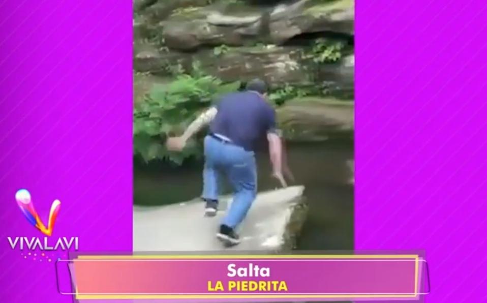 Este hombre no midió su salto y...¡Caída!