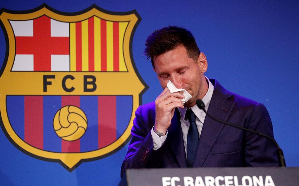 Messi de despide del Barcelona entre lágrimas. (Foto: Reuters)