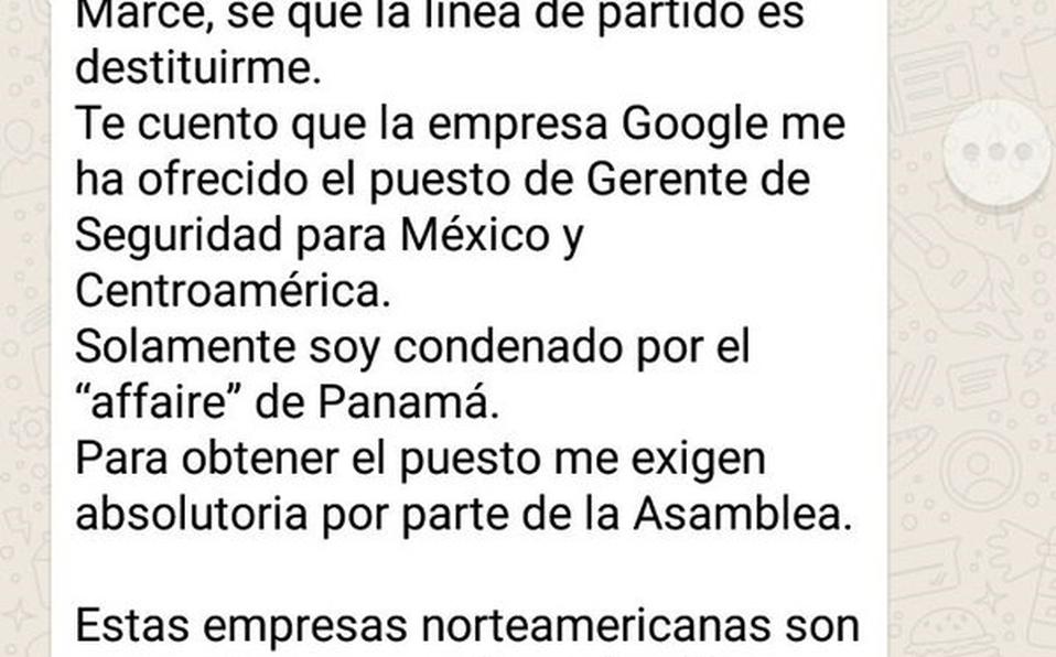 Google niega haber ofrecido puesto a Celso Gamboa