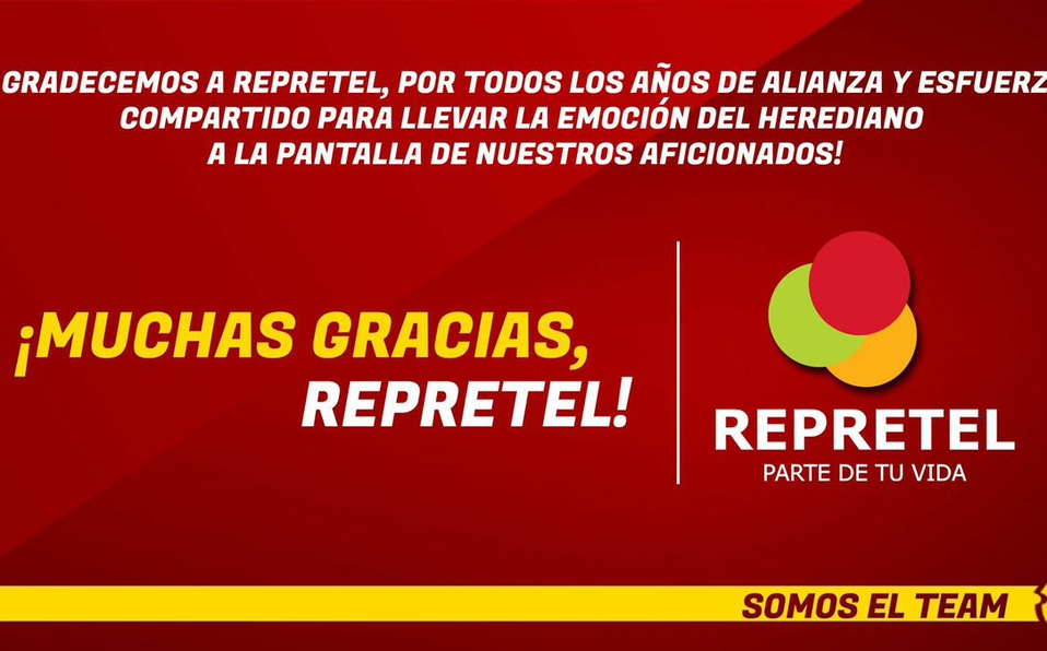 Club Sport Herediano: ¡Muchas gracias, Repretel!