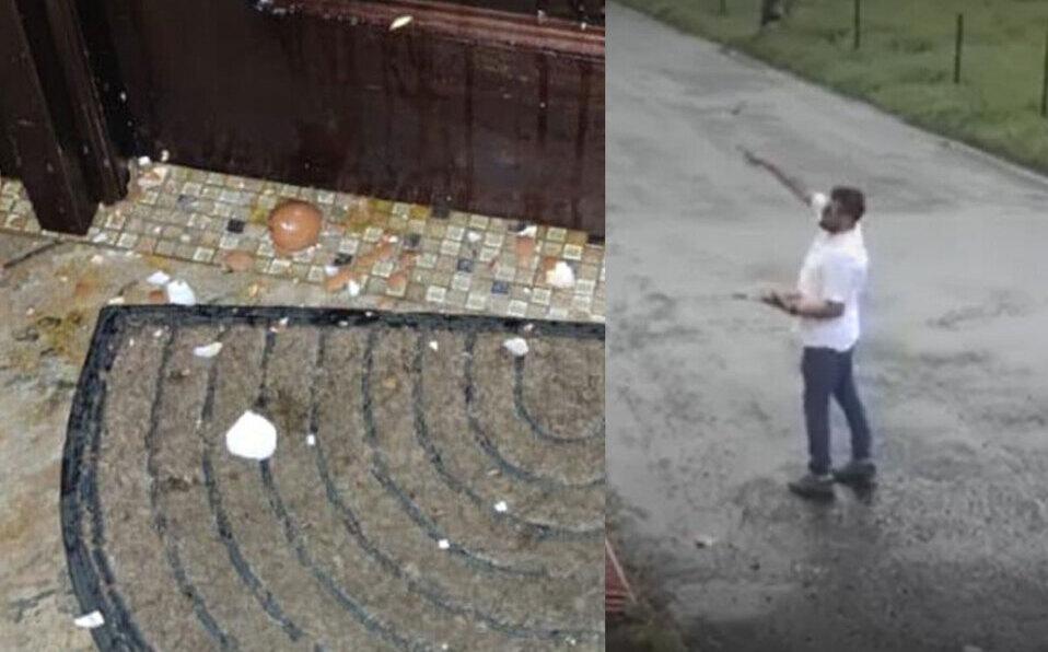 Lanzan huevos contra la casa de la diputada María José Corrales.
