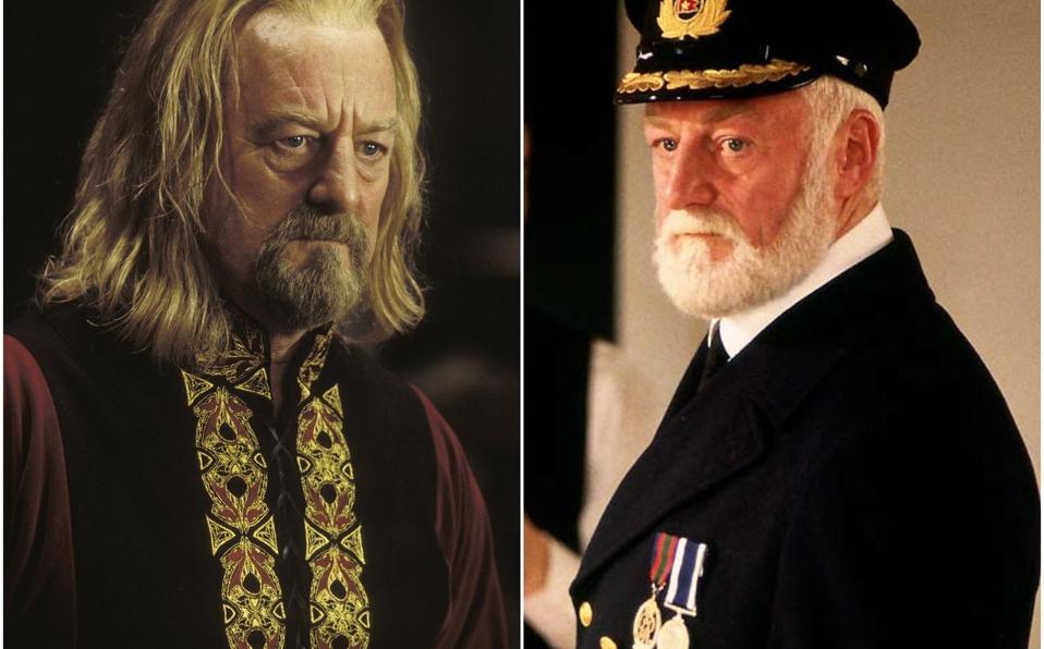 Bernard Hill como el Rey Théoden en la saga