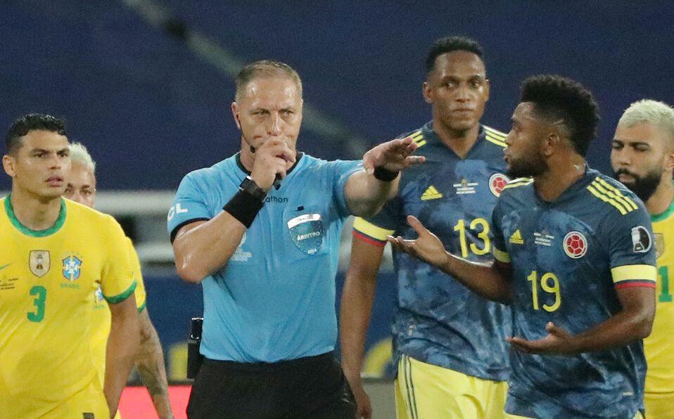 Colombia perdió 2-1 ante Brasil. Foto: Agencias.