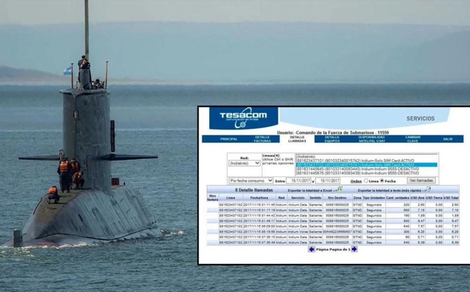Submarino desaparecido hizo ocho llamadas el día de la explosión