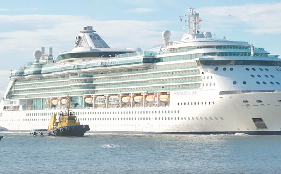 Primer gran crucero de la temporada llega a Costa Rica. (Foto: Presidencia)