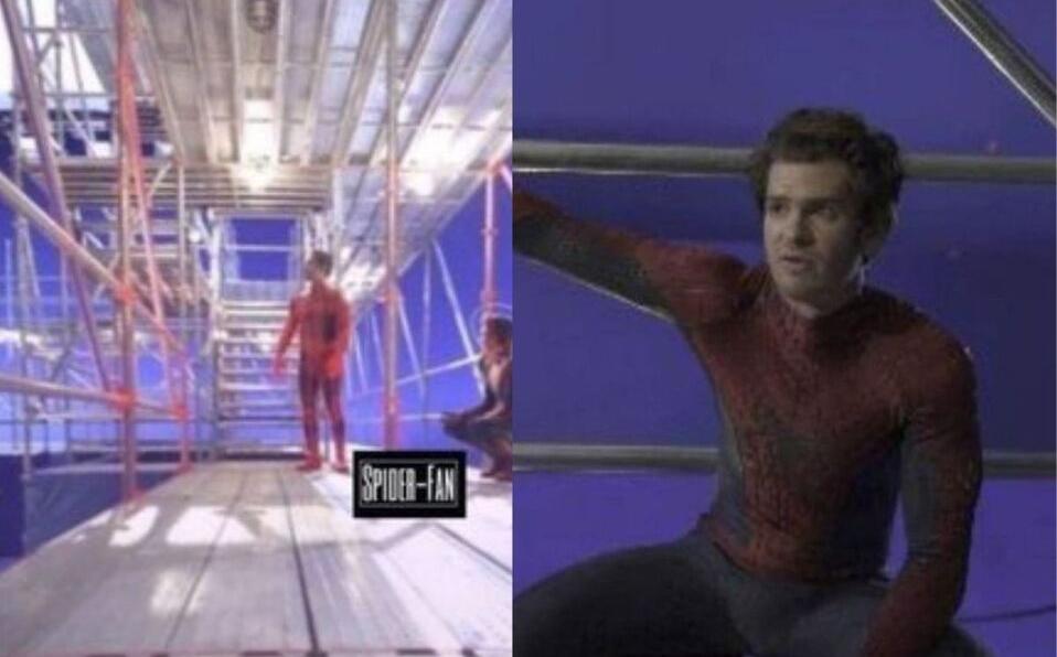 Filtran fotos de Andrew Garfield en set de Spider-Man: No Way Home