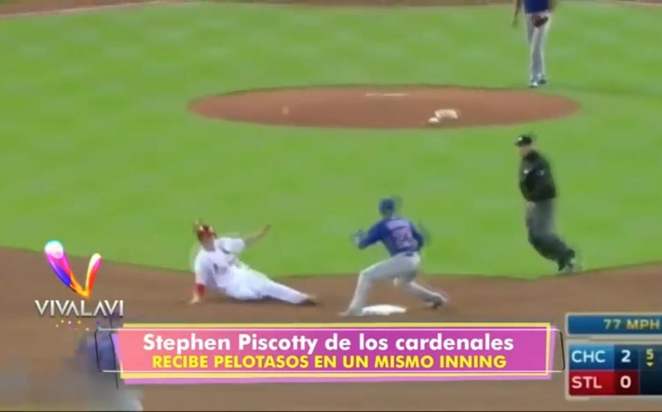 (+VIDEO)Beisbolista sufre tres pelotazos en la misma entrada